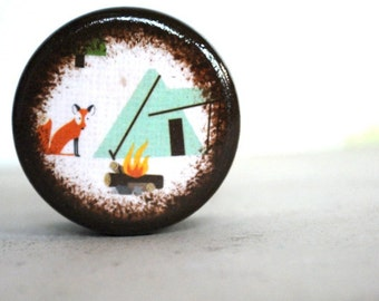 Fox And Tent Pill Box - Stocking Stuffers