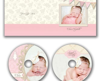 INSTANT DOWNLOAD -  Dvd Label and Dvd Case Photoshop template - W0515