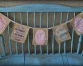 Burlap Easter Egg Bunting Banner