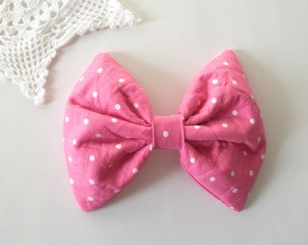 Large Pink Hair Bow, For Women Teens Girls