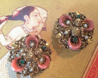 Florenza Regal Influence Figural Clip Earrings