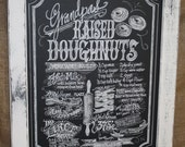 Your Favorite Family Recipe in a Chalkboard Art Sign Framed 18 x 24