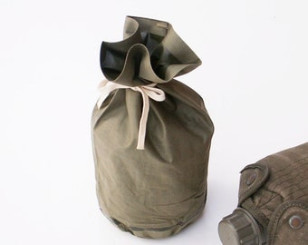 WWII US Army Jungle Food Pouch Rubberized Military Canvas Bag