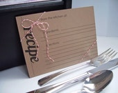 Kraft Recipe Cards - Kraft Paper Rustic Hostess Favors Cook Kitchen Gourmet Gifts, Recipe Cards