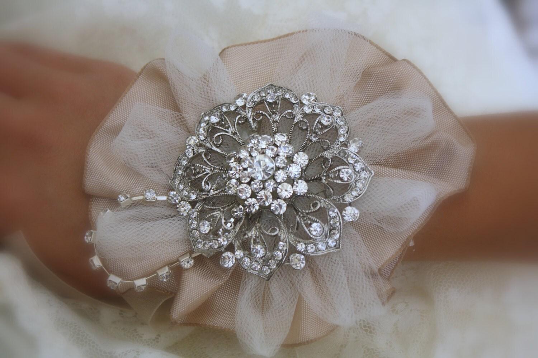 Brooch Wrist Corsage Bridal Wrist Corsage Wedding Bridal