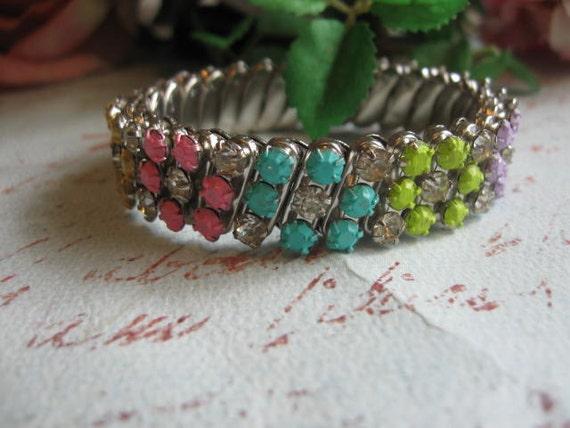 Hard Candy no 1.vintage upcycled rhinestone bracelet