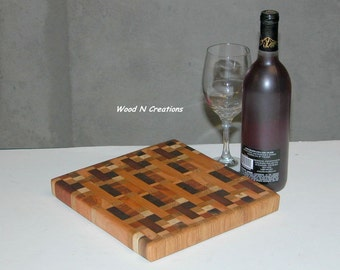 Cutting Board Wooden Endgrain Cheese Board Sandwich Board