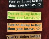 You're Doing Better Than You Know: Sticker