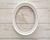 White Oval Frame Ornate Frame French Farmhouse Vintage Style Wedding Shabby Chic Oval Frame