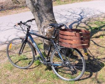 Bike Basket - Large Walnut Wood bike basket
