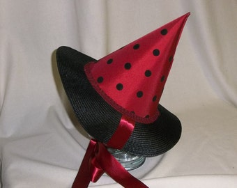 Witch Bonnet- Red and Black