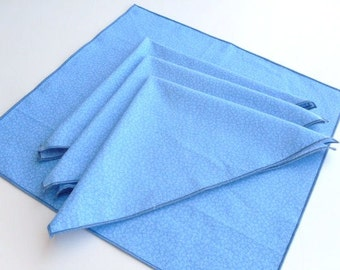 Summer Sky Blue Set Of Fabric Napkins