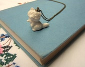Mr Raccoon Ceramic Necklace