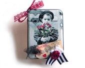Romantic French Tin Box, French Theme Gift Box, Romantic Gift Box, Altered Metal Tin, Paris Gift Box