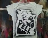 80s punk baby Billy Idol Rebel Yell bodysuit infant creeper crawler snapsuit onepiece