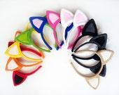Choose Any Color Kitty Ear Headband