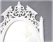 NEOCLASSIC WHITE Framed MIRROR Regency Decor Decorative White Mirror For Vanity Mirror Bathroom Old World Style Framed Mirror White - RevivedVintage