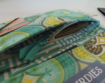 ADD On a ZIPPER POCKET to Your Boarding Pass Passport Wallet