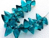 Brand New, 100 Cts, PARAIBA BLUE QUARTZ Faceted Fancy Briolettes,12-17mm Long,Superb Item at Low Price