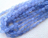Brand New, AAA Quality Natural HOLLY Blue Chalcedony Faceted OVAL Nuggets Shaped Briolettes,Full 10 Inch Strand, 8-10mm Size,Great Quality