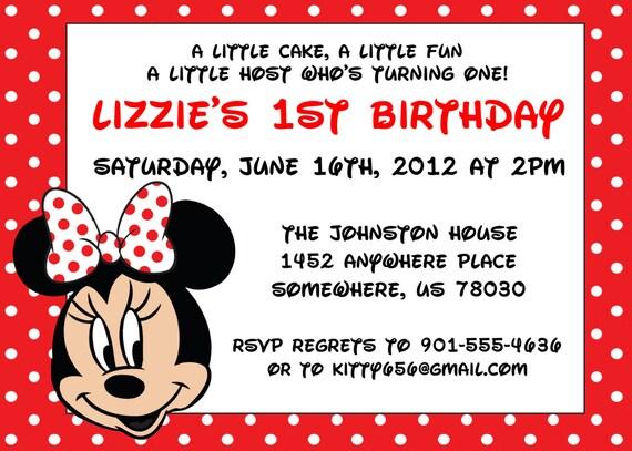 Minnie Mouse Red Invitation Orderecigsjuice Info