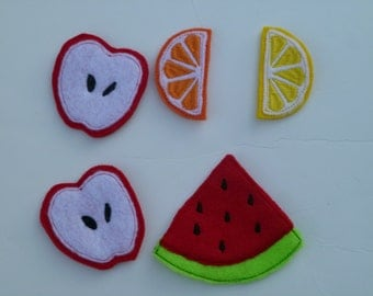 Felt Fruit Slices Play Food TBJ