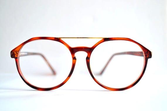 Large Frame Tortoise Shell Glasses : 80s cute hipster eye glasses tortoise shell round frames