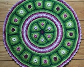 Grannies in a Round - crochet pattern, pdf