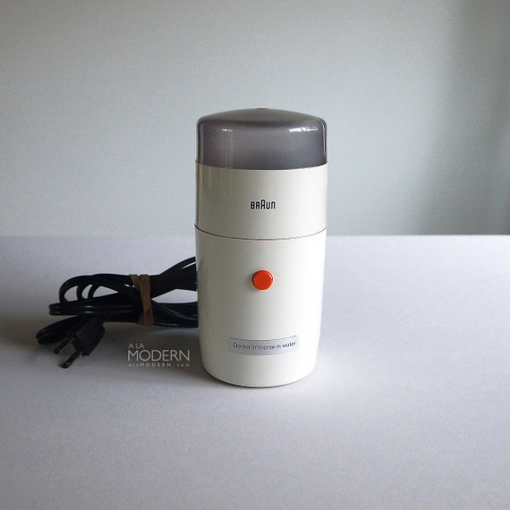 Braun Coffee Grinder ~ Vintage braun ksm aromatic white coffee grinder reinhold