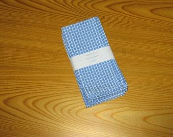 Blue and White Cloth Napkins Set of 4
