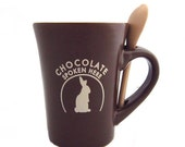 Chocolate Spoken Here Mug with Spoon