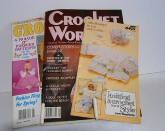 Vintage Crochet Magazines Destash, Crochet Magazines, Vintage Patterns, Vintage Crochet