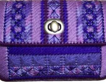 Plastic Canvas Petite Purple Pocketbook Pattern PDF format Instant Download