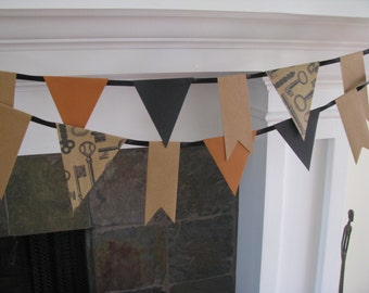 Vintage Key Banner Garland Party Decor
