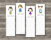 Stuff To Do Bookmark Notes . Digital Collection . Mayi Carles