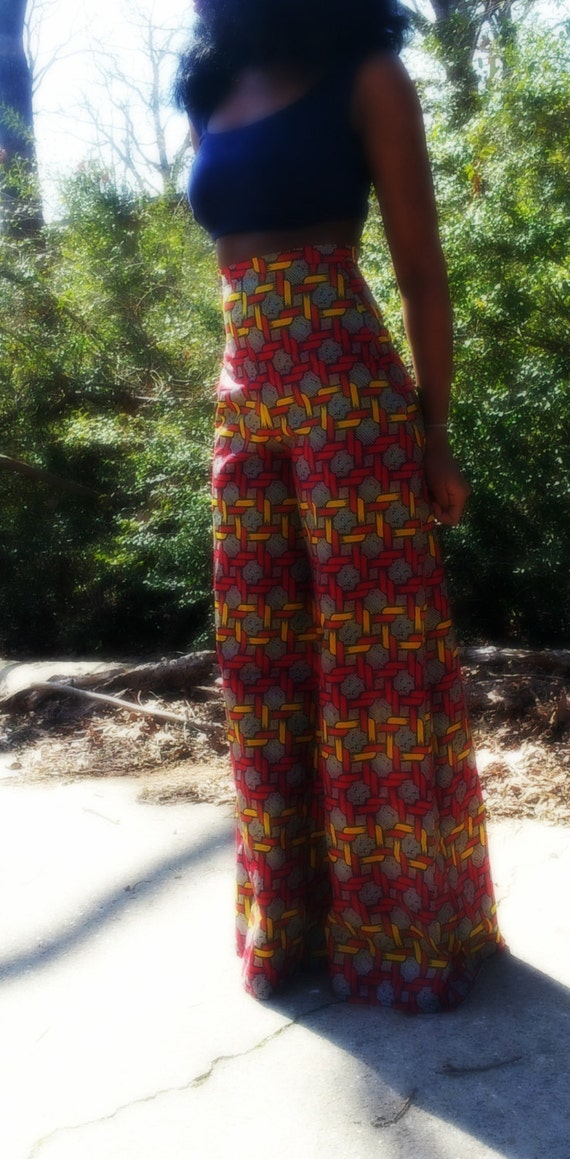 wide leg african print pants by nigerianhippie on etsy