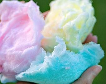 BATH SOAK - Cotton Candy Bath Salts Organic Oils Dead Sea Salt 8 oz Jar - Cotton Candy Scented Bath Soak
