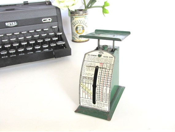 Vintage Postal Scale Antique Letter Scale Industrial Postal Scale Vintage Office Supply
