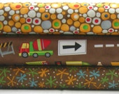 Bundle of 3 Prints in Yellow and Brown from the Ten Little Things Collection, by Moda, 1/2 yard each