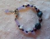 Teal and Purple Awareness Bracelet