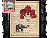 ELEPHANT - print ELEPHANT wall art - elephant vintage dictionary art print - ELEPHANT home décor no3