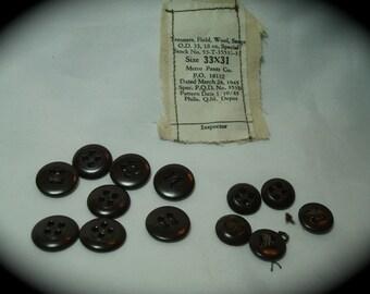 1945 World War Two Uniform Buttons.