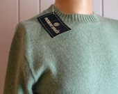 Vintage Mens Robert Bruce Blue Green Sweater never worn with tag