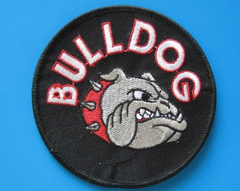 Iron-on embroidered Patch Bulldog 3.5 inch