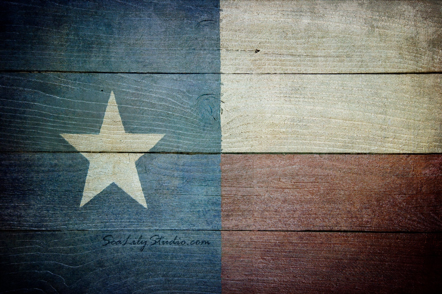 Lone star texas flag photo distressed wood photography for Lone star home decor