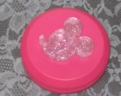 Pink Mouse   - Pill case with pill cutter  -  free shipping