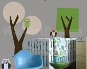 Custom Listing Modern Kids Tree Decal SET - Owls - Vinyl Wall Decals