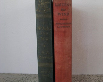 two non fiction travel adventure books from the 30's and 50's
