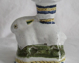 vintage ceramic bunny candle holder from Portugal