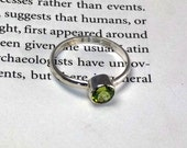 Peridot Stacking Ring August Birthstone